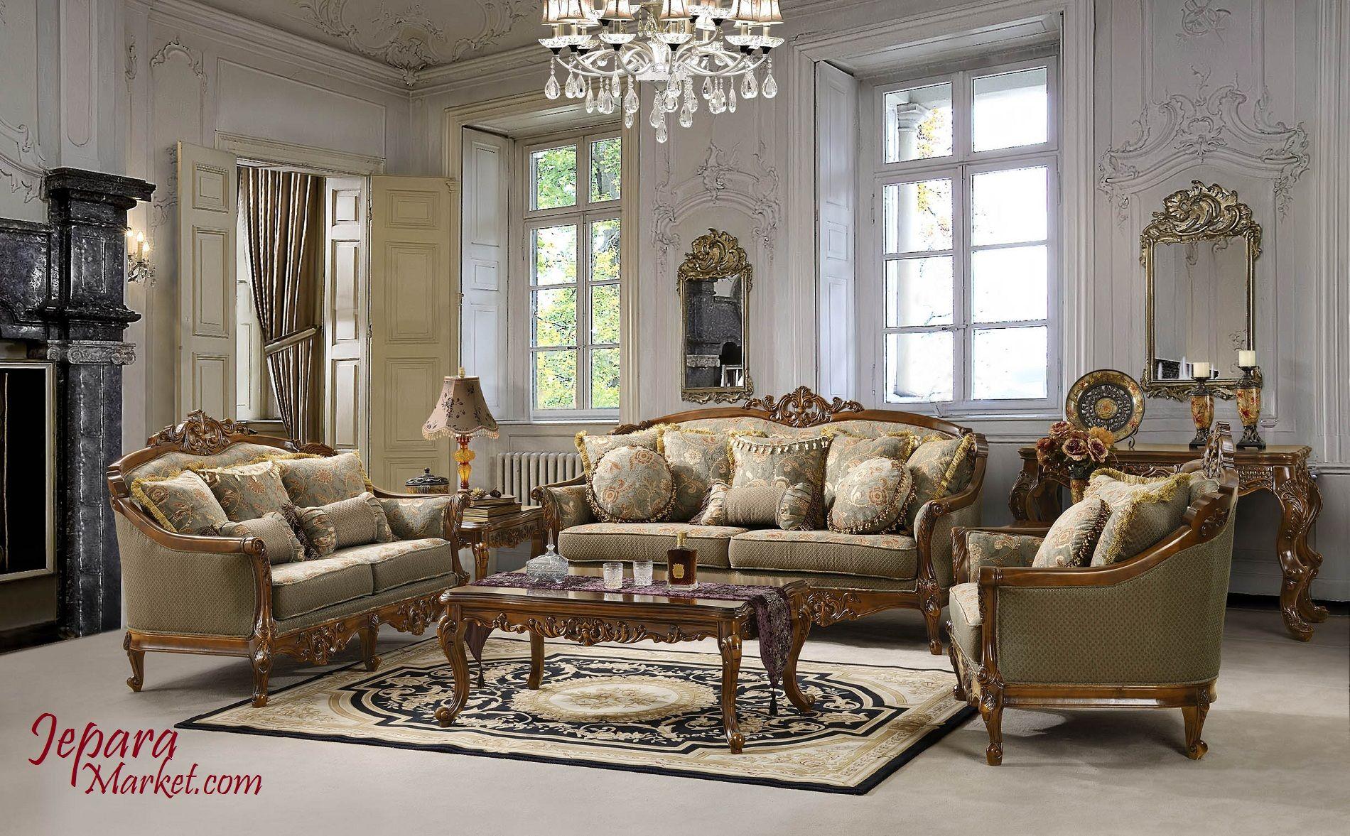 Kursi Sofa Tamu Ukiran Model Belanda Cocok Untuk Ruang Tamu Rumah