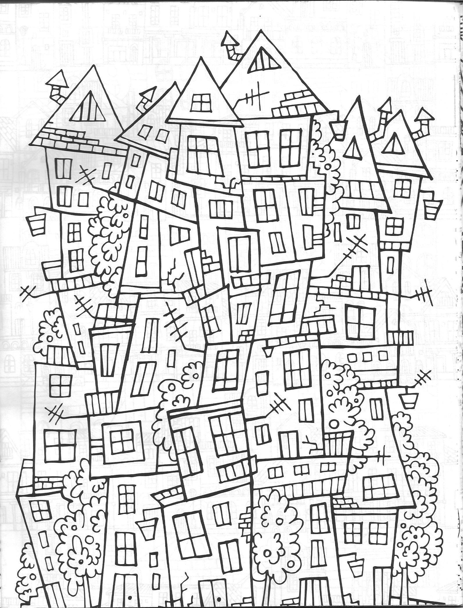 Vida Simples Cidade Dos Sonhos Boyama Kitaplari Cizimler