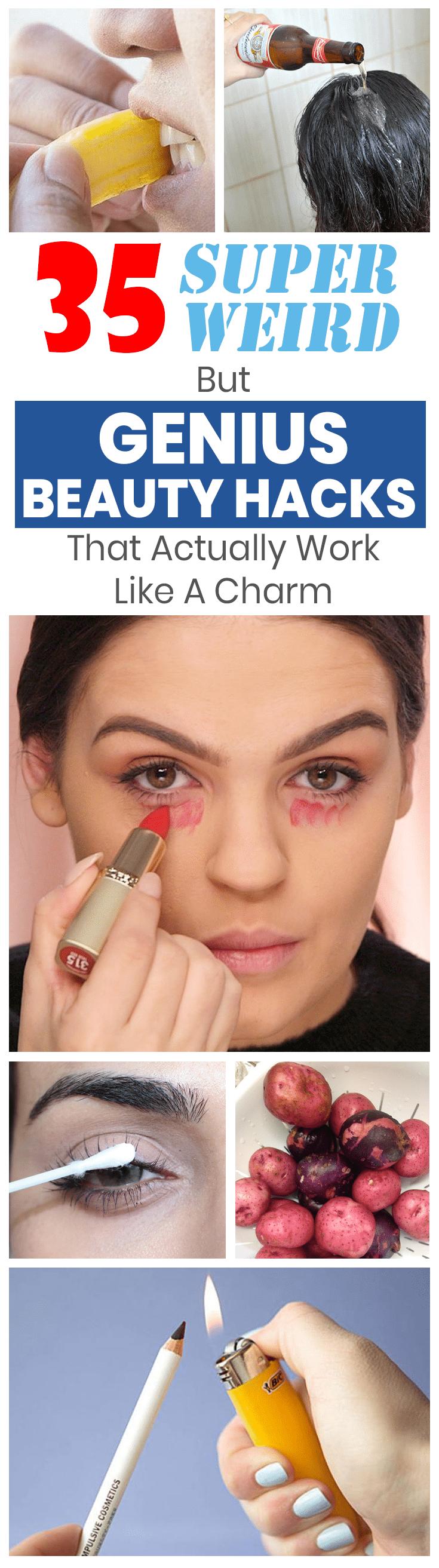 super strange but genius beauty hacks that really work wonders
