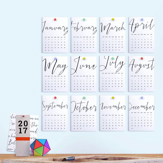 2017 Printable Calendar PDF 5x7 A4 Us Letter by FearlessConfetti - printable calendar pdf