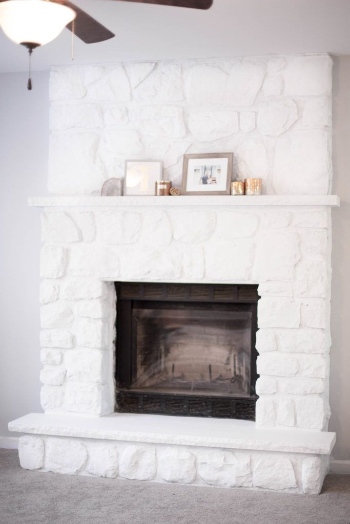 How To Whitewash A Stone Fireplace In 2020 Stone Fireplace Decor Whitewash Stone Fireplace White Stone Fireplaces