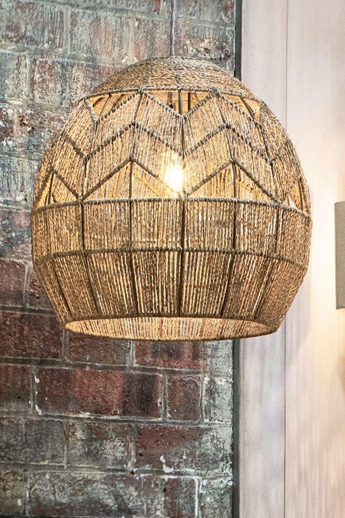 Next Samira Easy Fit Pendant Natural Rattan Pendant Light Ceiling Pendant Lights Rattan Shades