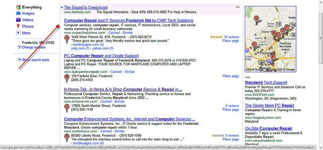 Local Seo Or Local Search Engine Optimization Ranking Results For