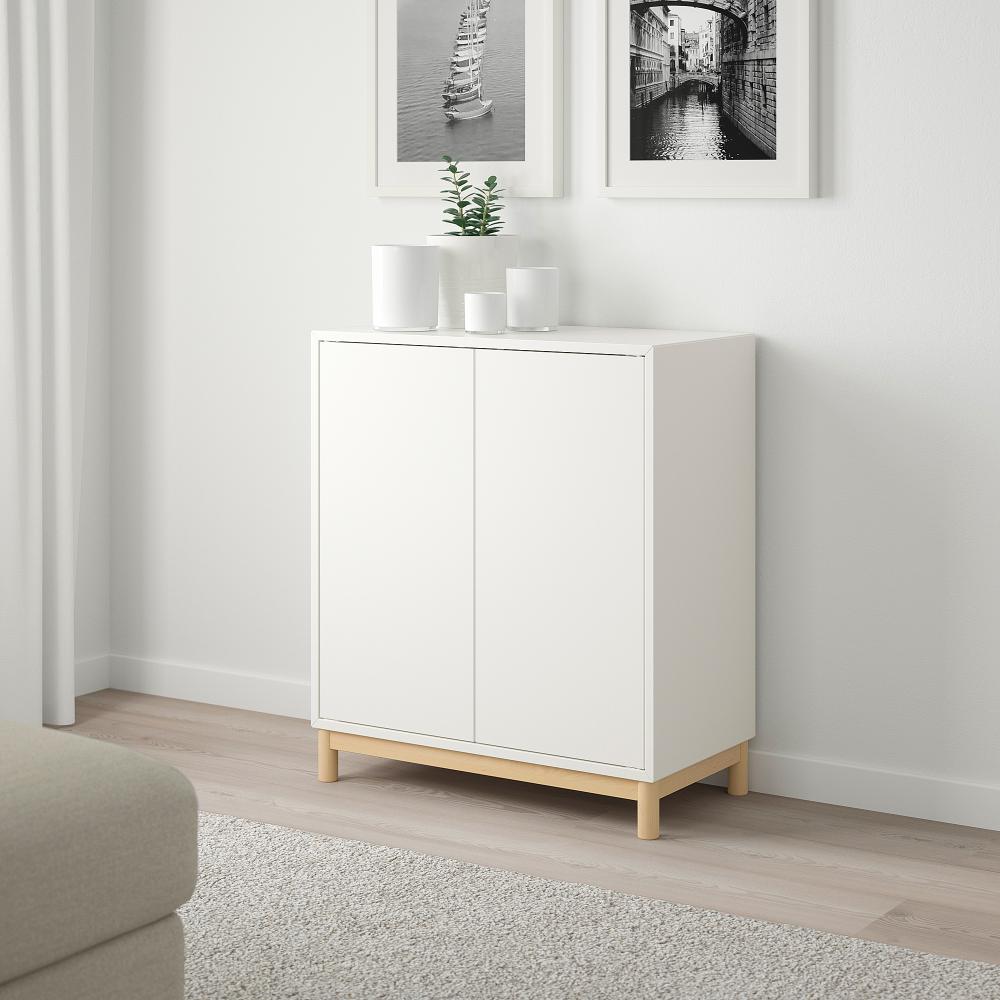Eket Storage Combination With Legs White Width 27 1 2 Ikea
