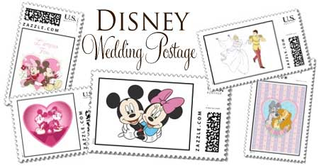 Disney Themed Wedding Postage Stamps Mickey Minnie Mouse Princesseore