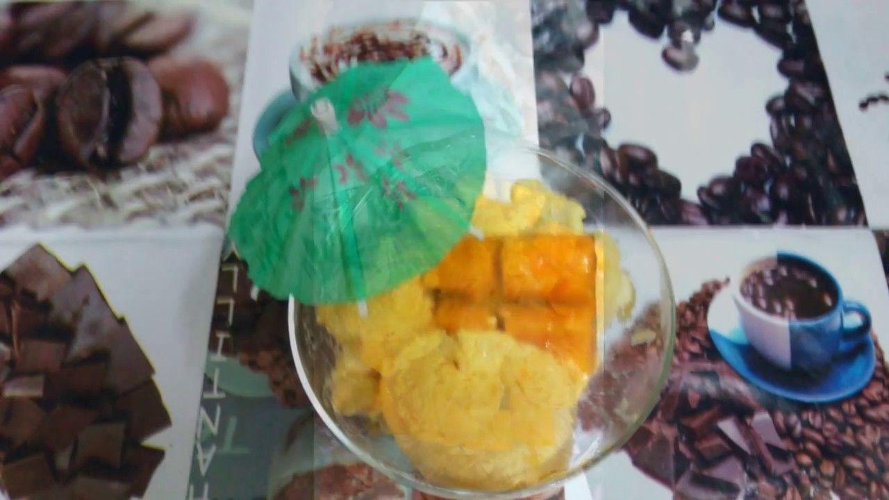 أسهل طريقة لعمل أيس كريم المانجو بدون بودرة ايس كريم Food Ice Cream Desserts