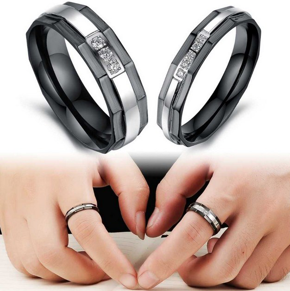 Anium Stainless Steel We Love Each Other Rings
