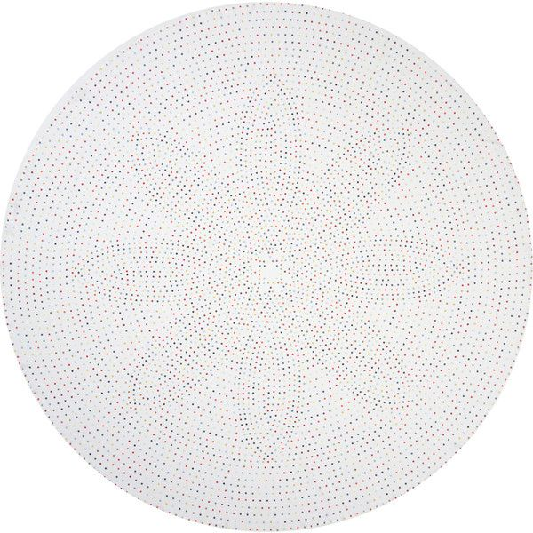 Huddleson Linens Piccadilly Polka Dot Round Linen Tablecloth ($195) ❤ Liked  On Polyvore Featuring