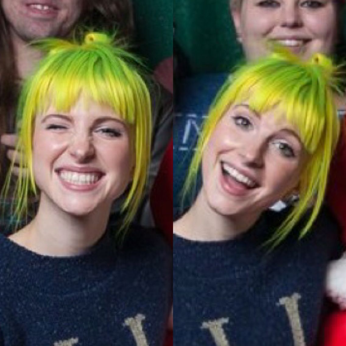Hayley Williams Okay This Woman Can Wear Any Color And Still Look Absolutely Stunning What Hayley Williams Haircut Hayley Williams Green Hair