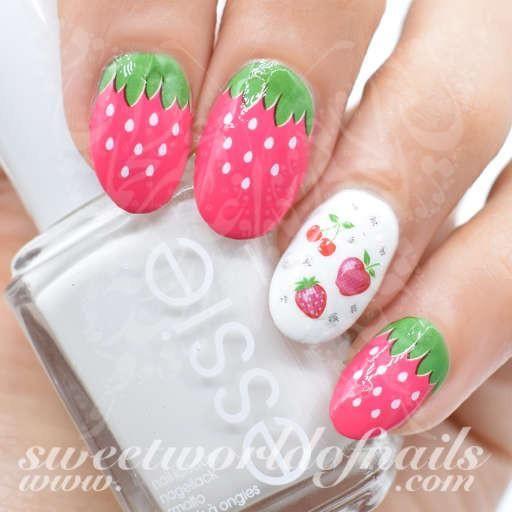 Strawberry Nail Art Nail Water Decals Wraps Strawberry Nail Art