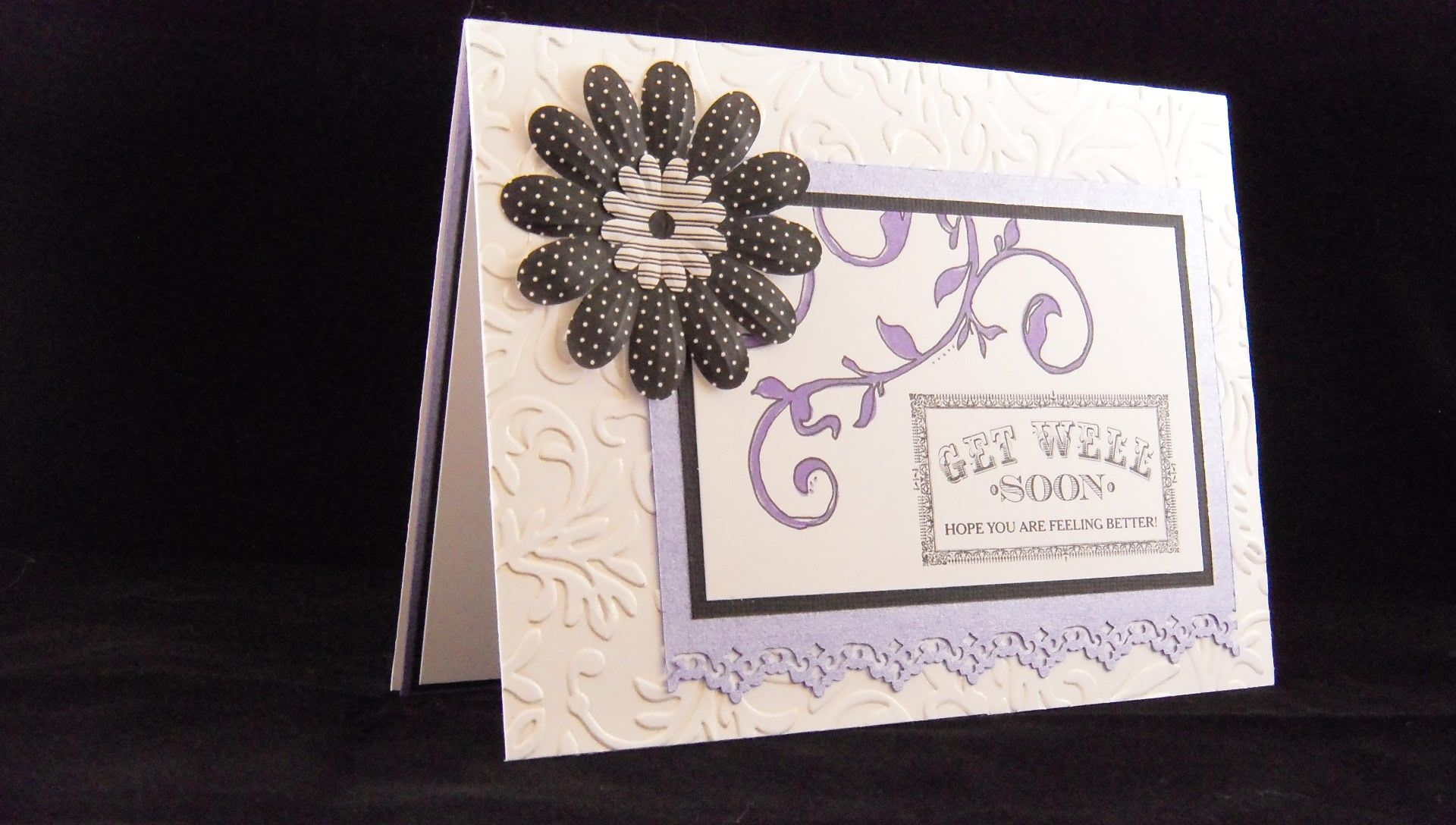 Get Well Soon Card Idea https://www.facebook.com/pages/Creative-Jamie-Designs/141195522569238