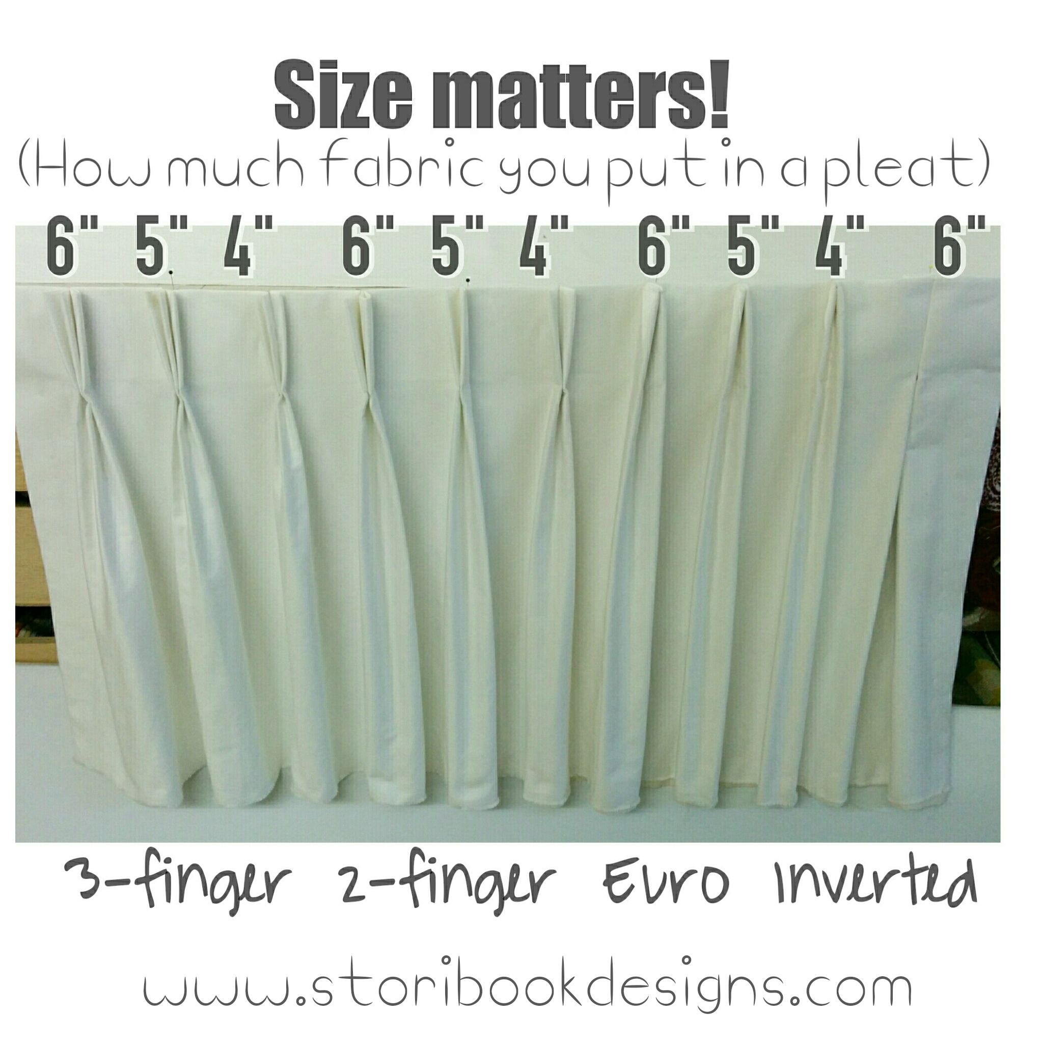 Photo: The Amount Of #fabric You Plan For Each Pleat Makes