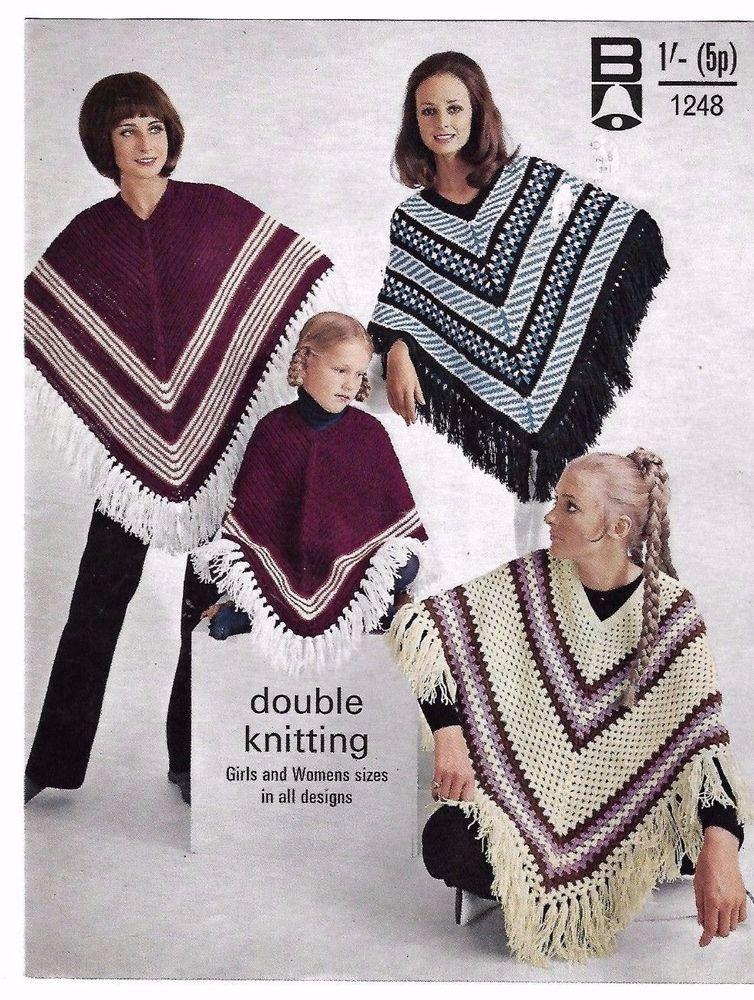 Bellmans 1248 Dk 1970s Vintage Knitting Pattern Girls Womens