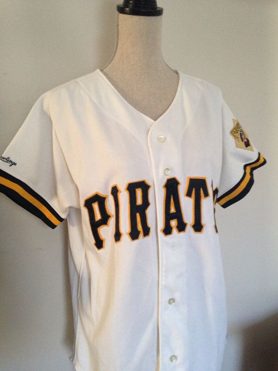 45ccb7f091f Vintage Pittsburgh Pirates 80s Rawlings Jersey by 21Vintage ...