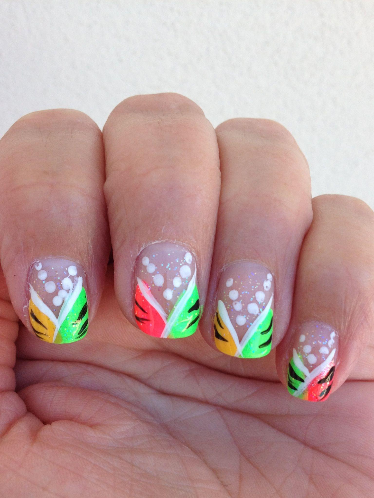 Easy summer neon nails   Nail Art   Pinterest   Neon nails and Makeup