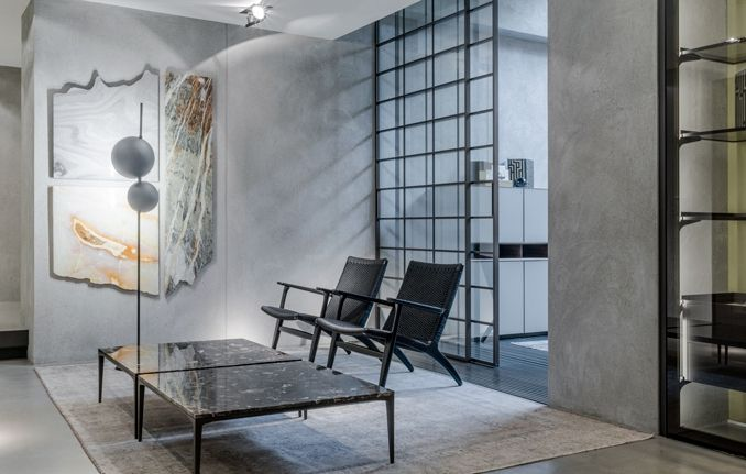 Bijzettafel Modern Design.Design Bijzettafel Met Marmer Blad En Aluminium Rimadesio Tray