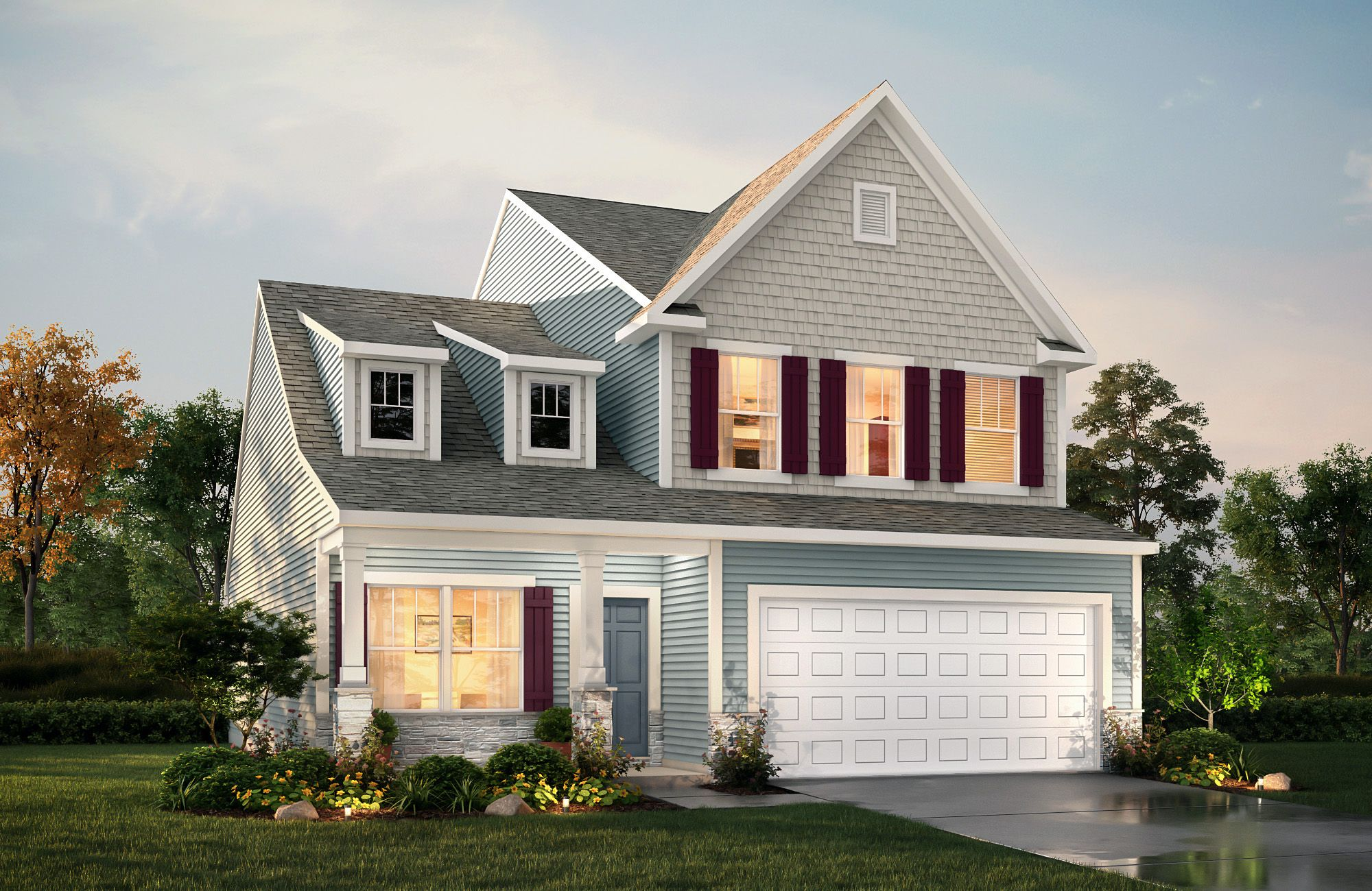 Tate E B2p In 2020 True Homes House Elevation House Styles