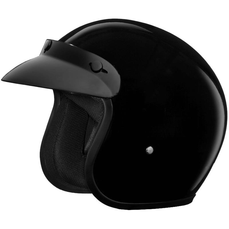 Daytona Cruiser Jr Open Face Helmet Hi Gloss Black