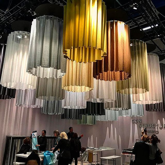 Cool textile installation #design #interiordesign #kinnasand #stockholmfurniturefair2017 #stockholmfurniturefair