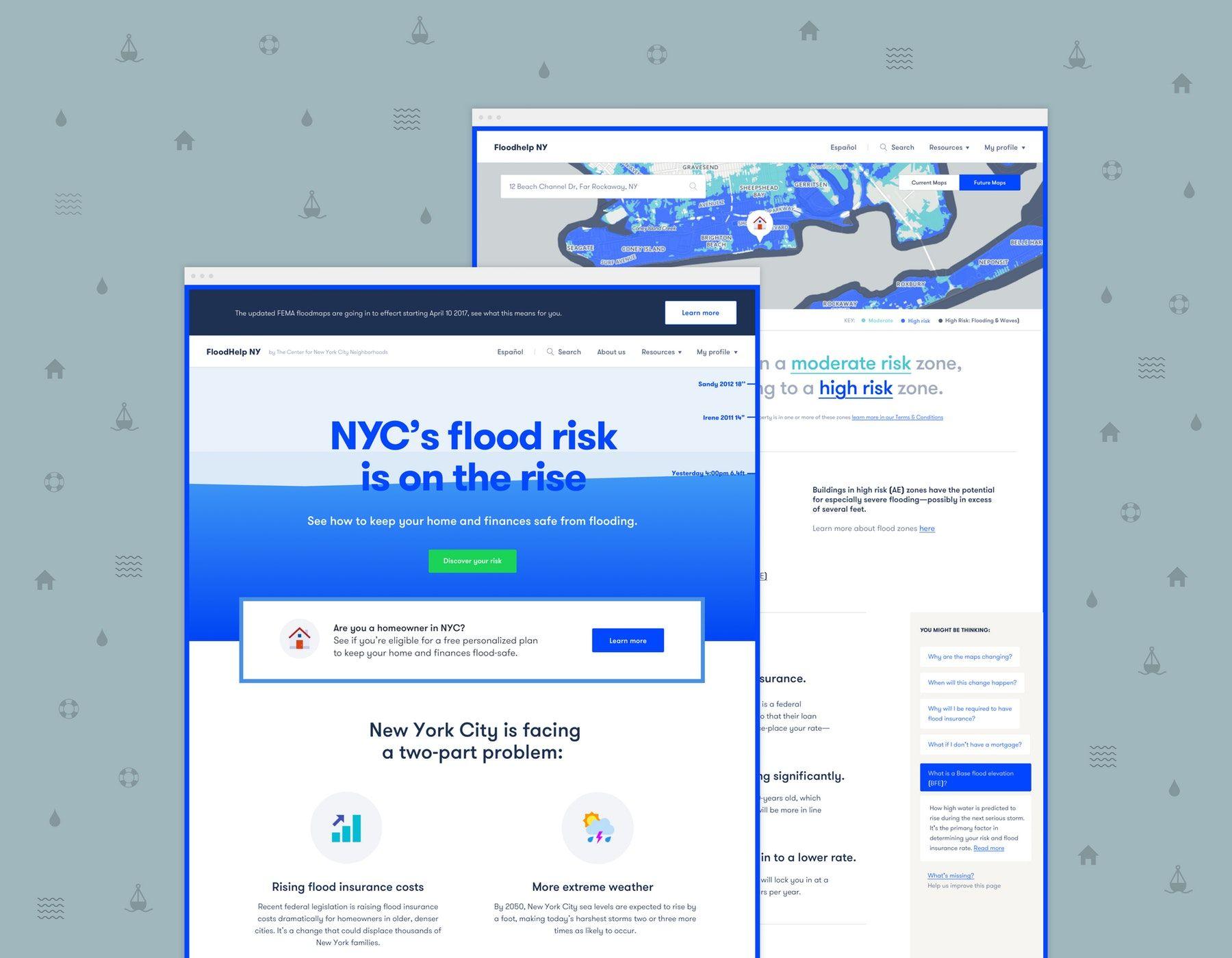 Floodhelp Screen Flood Risk Homeowner Climate Change