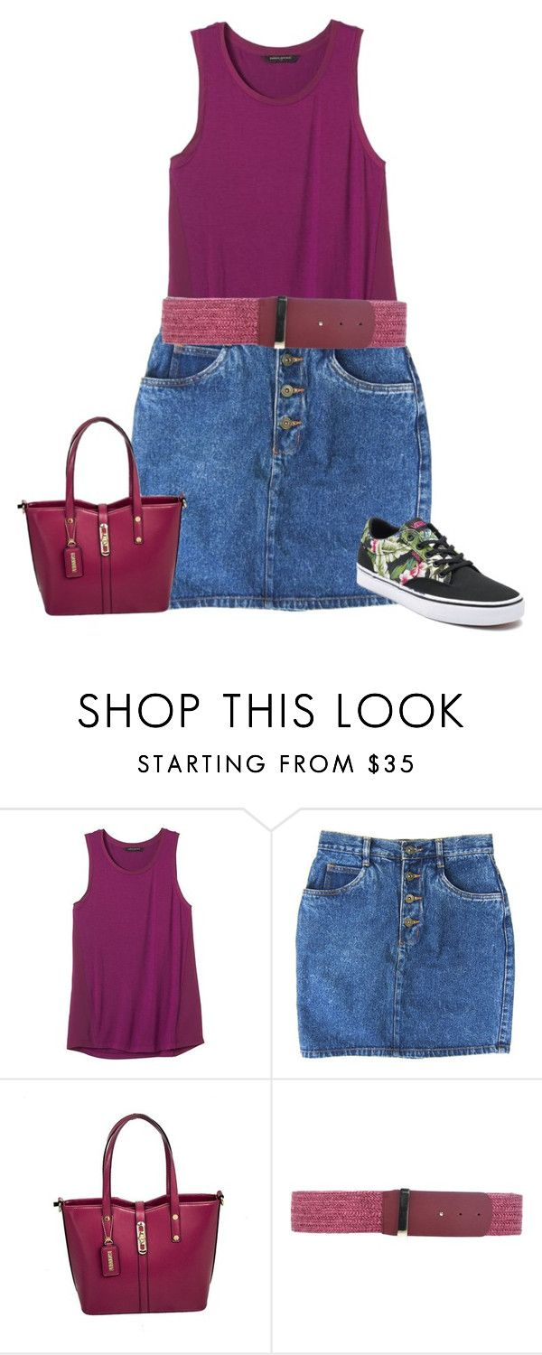"""sneakers"" by kim-coffey-harlow ❤ liked on Polyvore featuring Banana Republic, Stefanel and Vans"
