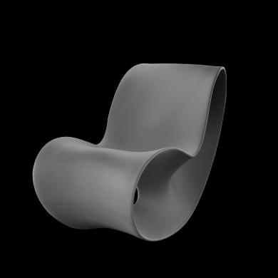 fauteuil voido chauffeuse bascule en poy thyl ne con ue pour l ext rieur designer ron arad. Black Bedroom Furniture Sets. Home Design Ideas