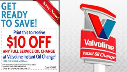 Valvoline Instant Oil Change Coupons Oil Change Oils Coupons