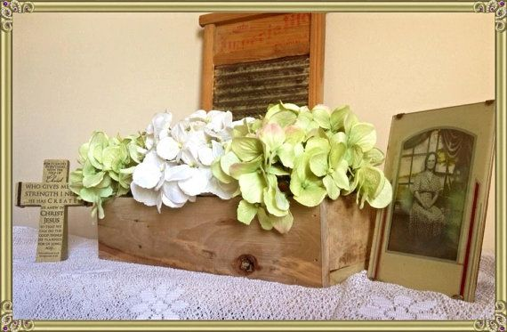 FLORAL NOW INCLUDED: Rustic Reclaimed Pallet Wood Box ...