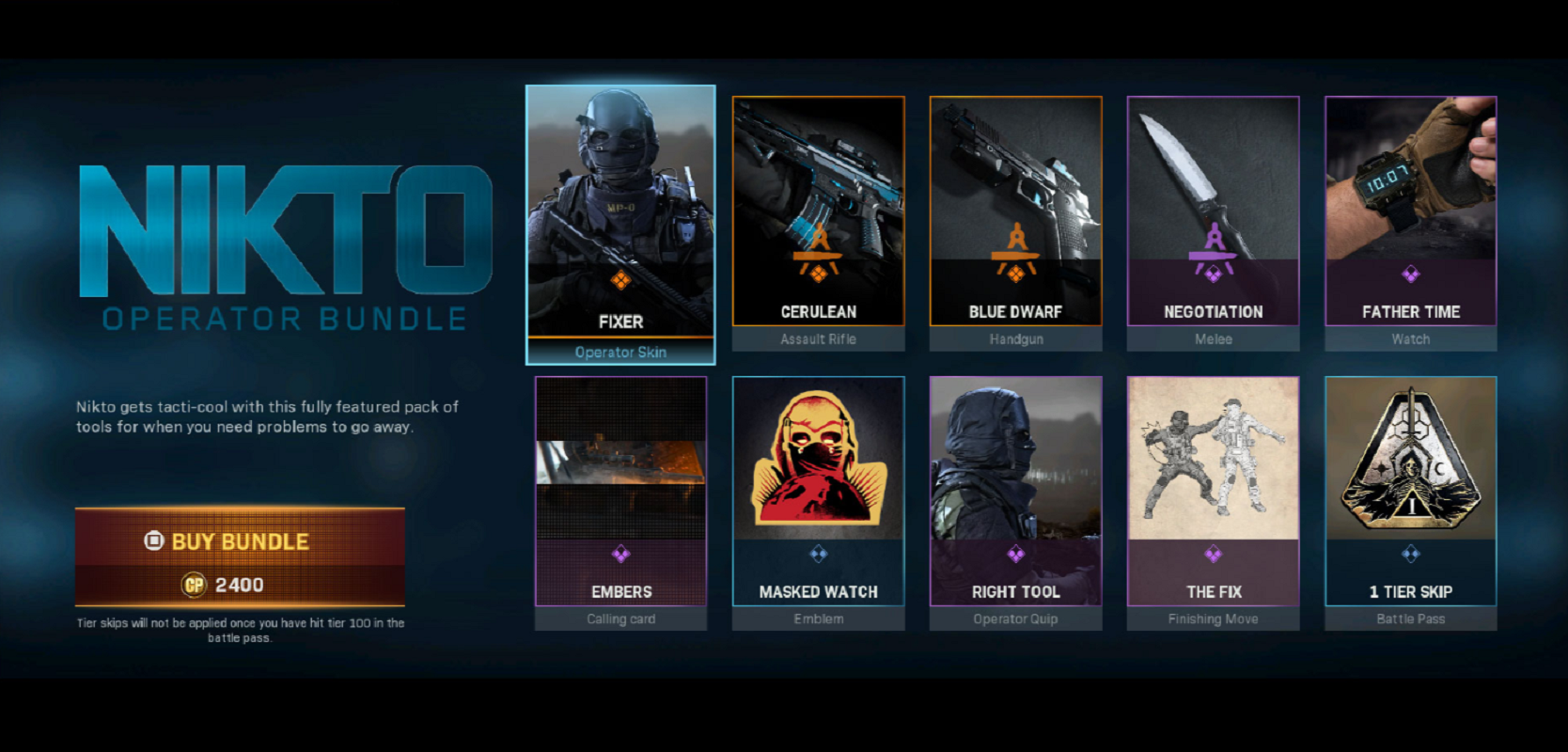 Nikto Operator Bundle Is Jammed Full Of In Game Items For Call Of Duty Modern Warfare Players Including Modern Warfare Call Of Duty Call Of Duty Multiplayer