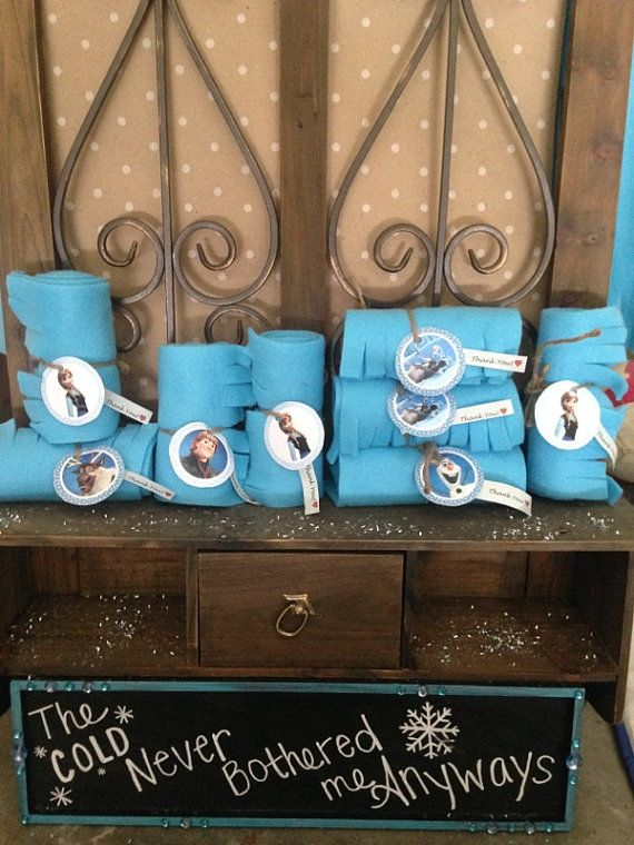 Frozen Themed Thank You Scarves All Characters Elsa Anna