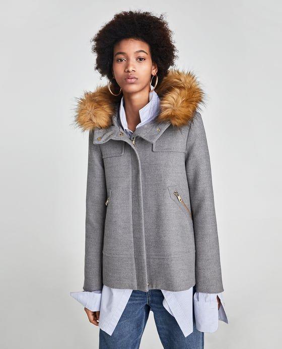 À Fourrure Manteau Capuche Fausse Image Zara De Avec 2 Vestes t6qfSwB