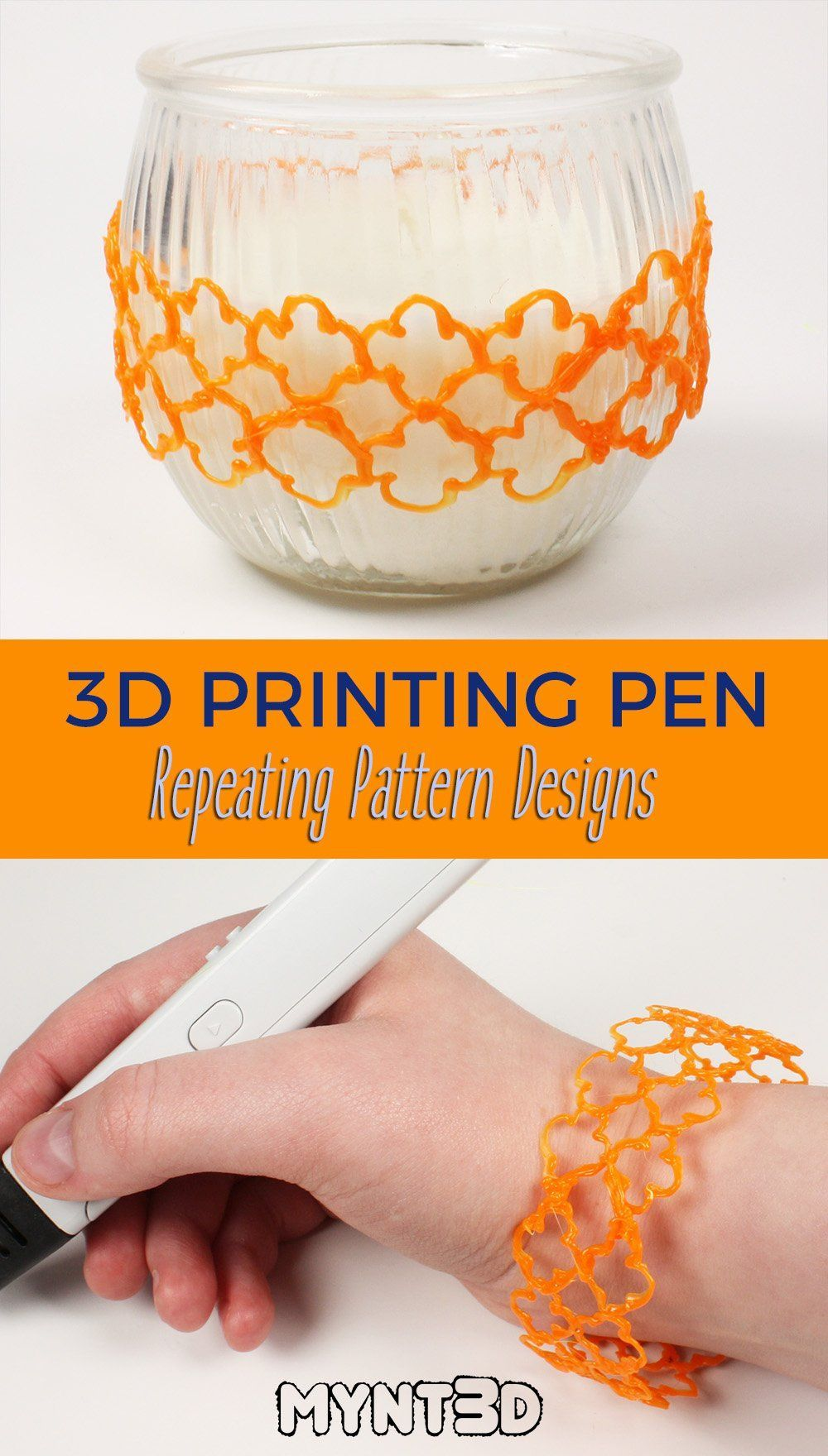 Draw 3d Pen Bracelets Vase Covers Containers And Patterned Structures With Repeat Design Pattern Templates From Mynt3d Get 3d Pen Stencils 3d Pen 3d Pen Art