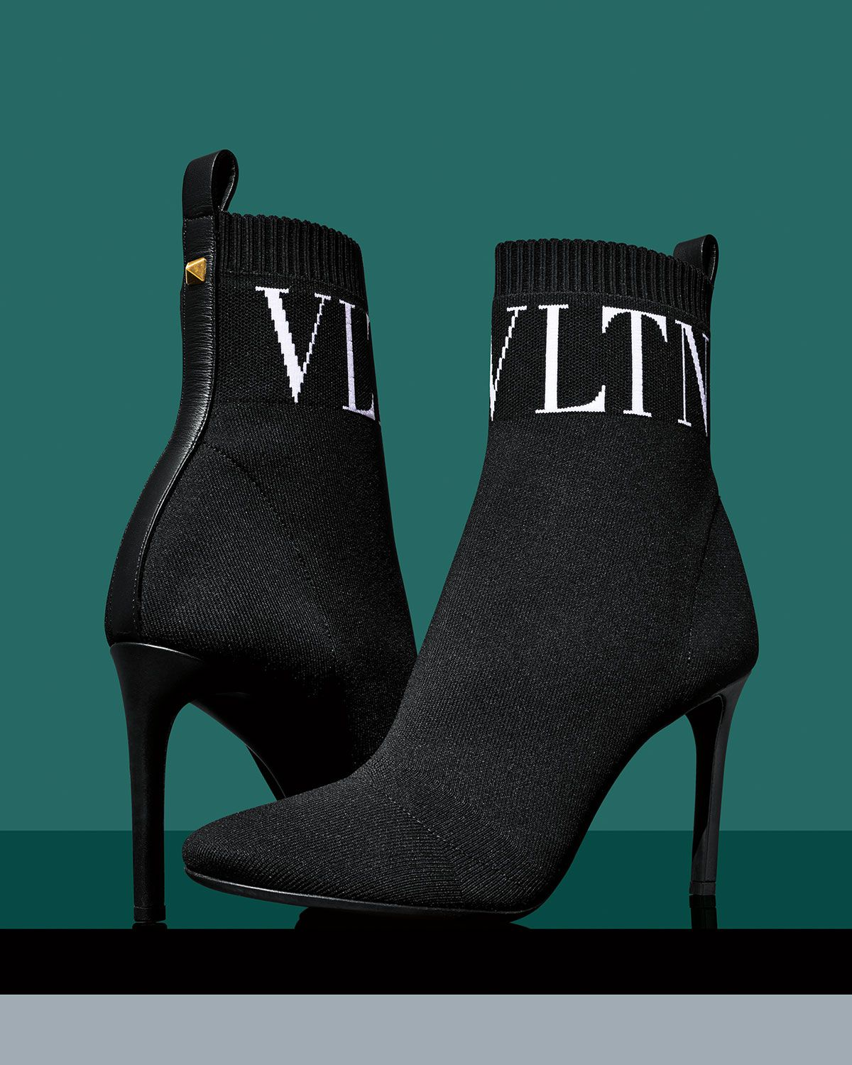 bd40758744a These stretch-knit Valentino booties are simple