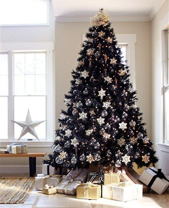 Best Black Christmas Tree Ideas in Christmas 2019 #blackchristmastreeideas