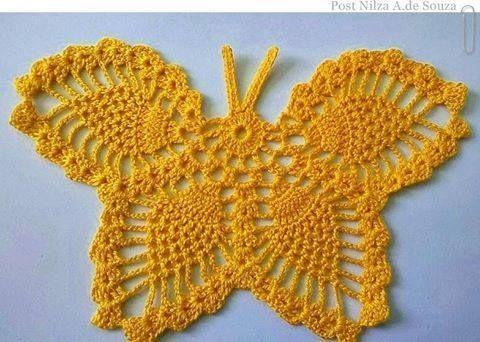 Borboleta Para Aplicacao Em Croche Com Grafico 9821 Com