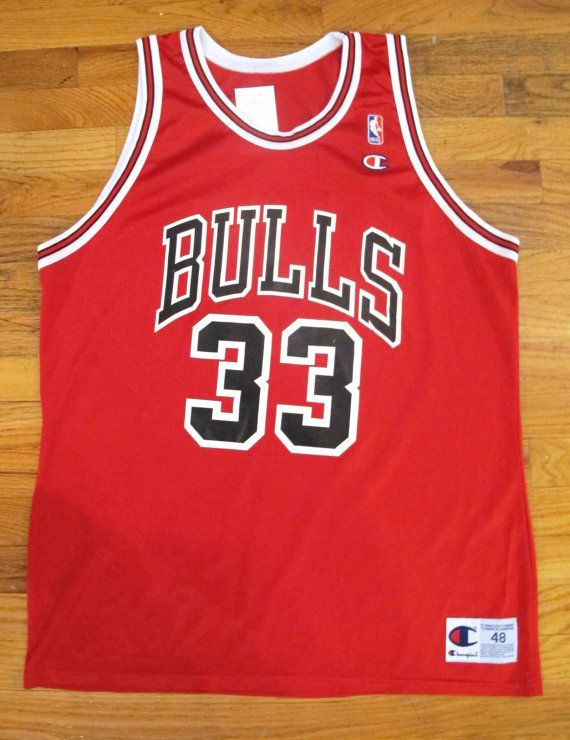 online retailer 721a6 e925e Vintage 90s Champion Chicago Bulls Jersey Size 40 by ...
