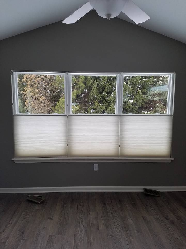 Top-down/bottom-up cellulars are great for bedrooms and other areas you want privacy. They can be raised like a regular shade or lowered from the top down.