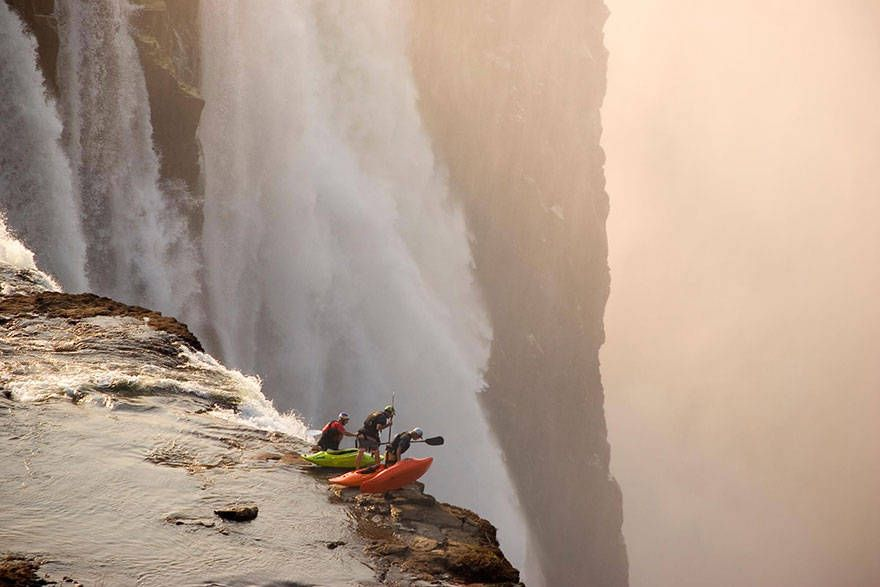 Extreme kayaking at Victoria Falls.