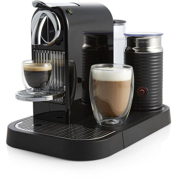 Crate Barrel Nespresso Citiz Black Espresso Machine With Aeroccino Frother Nespresso Crate And Barrel Crates