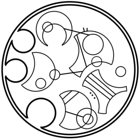 """This star won't go out"" written in circular Gallifreyan"