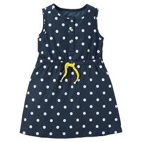 Sundresses. Keep in mind the heat!  She's in size 3T Just One You™ Made by Carter's® Toddler Girls' Sleeveless Polka Dot Dress : Target