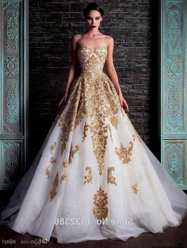 Indian Wedding Dresses White N Gold Theme Weddings