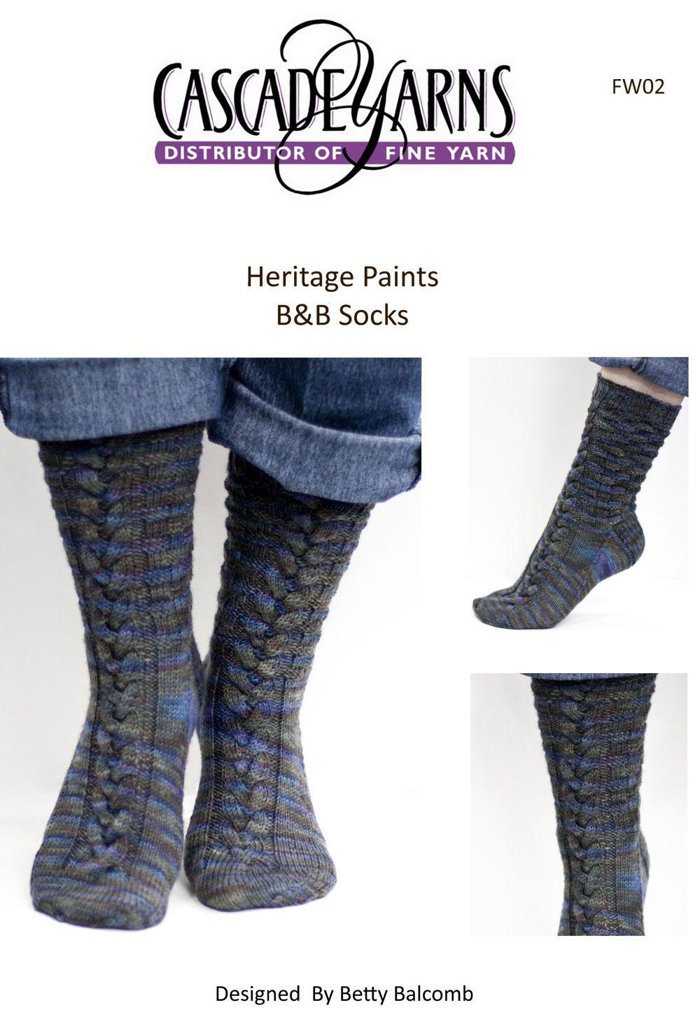 B&B Socks in Cascade Heritage Paints - FW02 | Knit feets | Pinterest