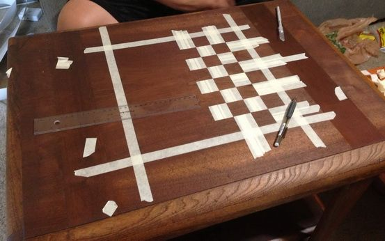 How To Make A Custom Chess Board From An Old Wooden Table