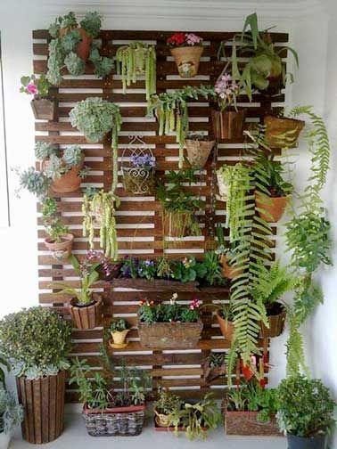 mur vgtal sur balcon fabriquer avec une palette - Fabriquer Jardiniere Avec Palettes