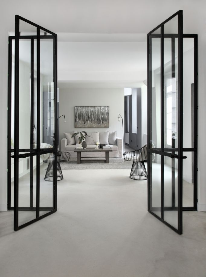 id e s paration de pi ce portes vitr e salon david. Black Bedroom Furniture Sets. Home Design Ideas