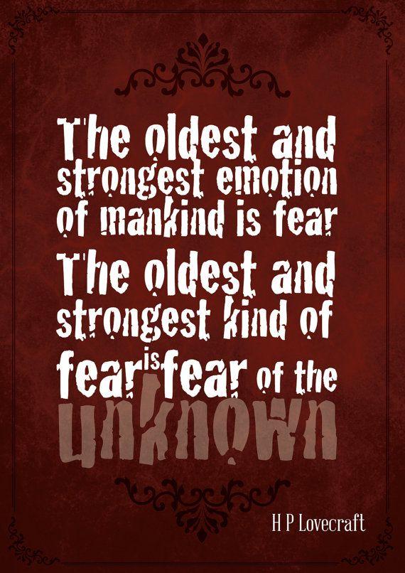 Gothic Art Print Poster - The oldest and strongest emotion