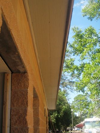 Install Cement Board Soffit Panels Exterior Renovation Home Construction Installation