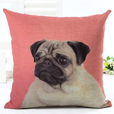Pug Dog Pink Pillow Case
