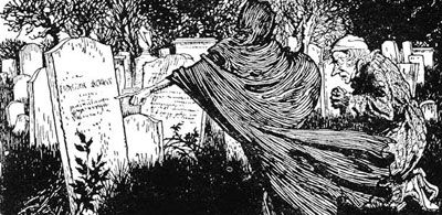 The Ghost of Christmas Yet To Com - By Arthur Rackham | Dickens christmas carol, Arthur rackham ...